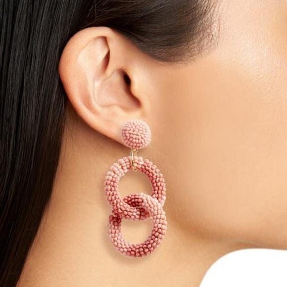 BP   Beaded Circle Drop Earrings